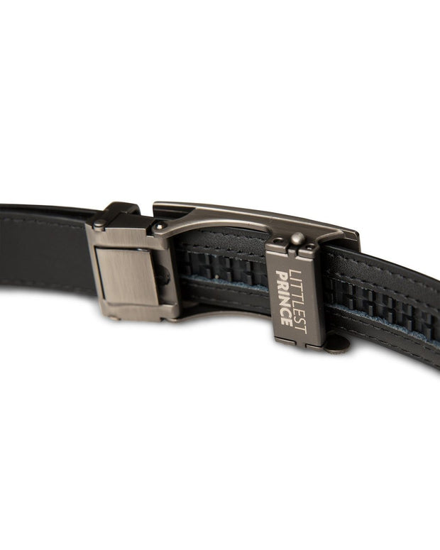 Black Zipper Belt with Gun Metal Buckle