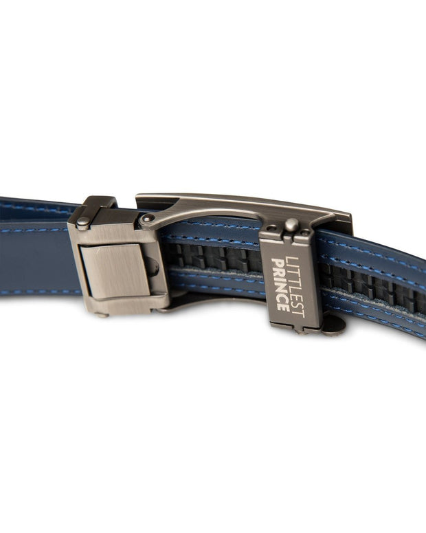 Navy Zipper Belt with Gun Metal Buckle