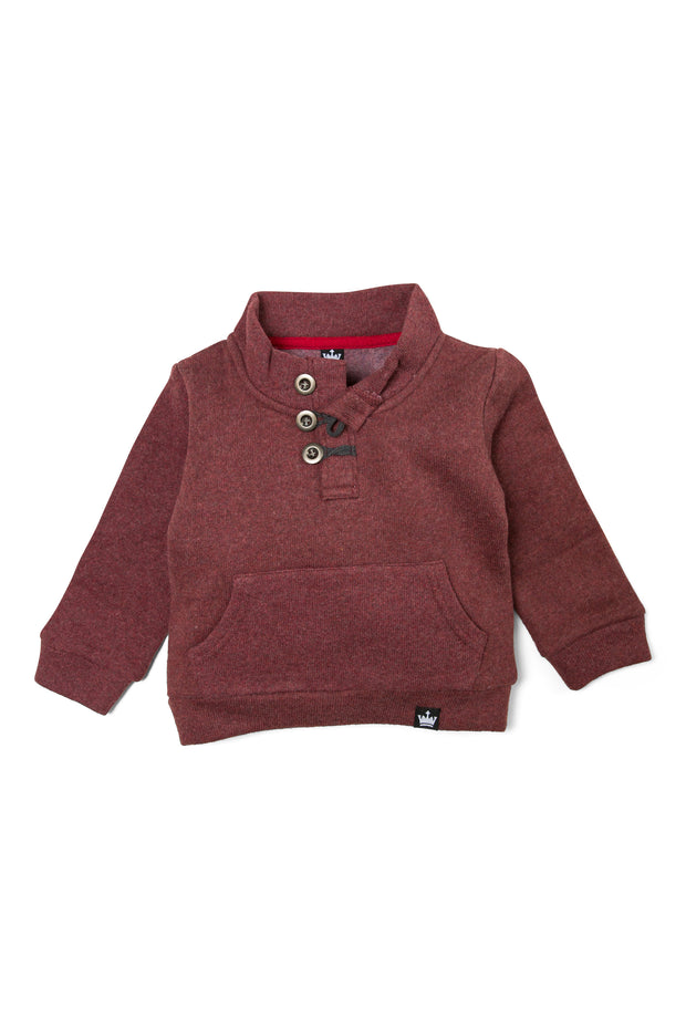 Button Neck Sweatshirt