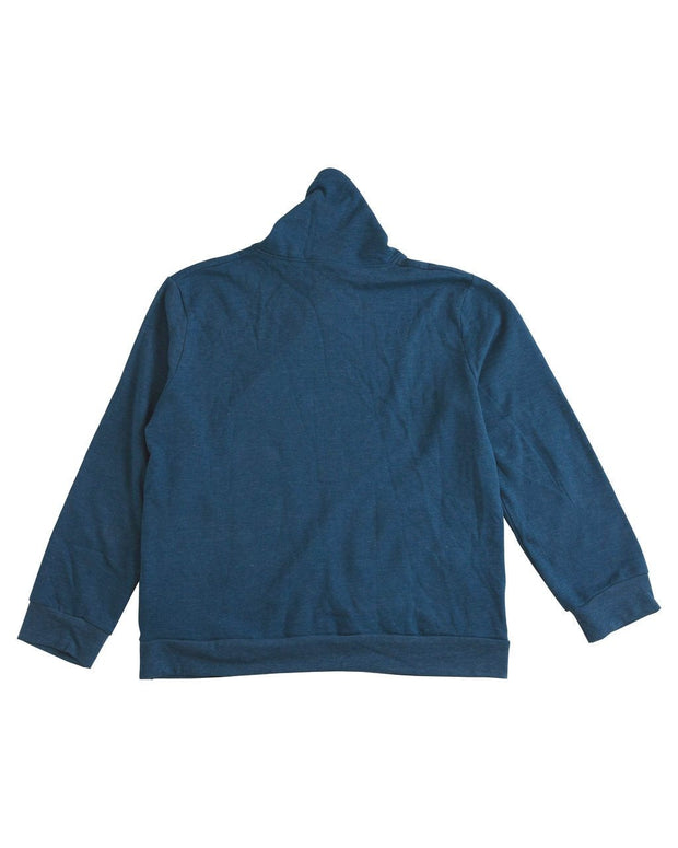 Navy Men's Button Shawl Collar Sweatshirt
