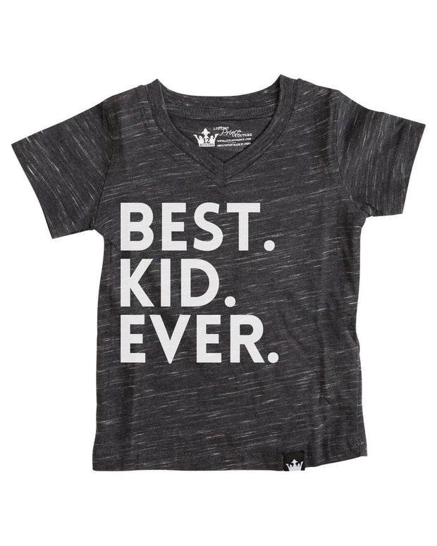 Best Kid Ever Charcoal V-Neck Tee