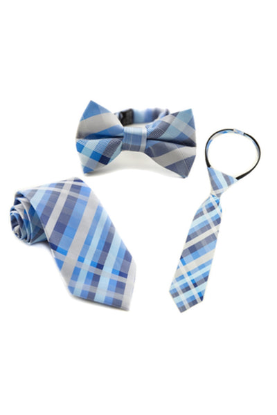 Baby Blue Plaid Tie