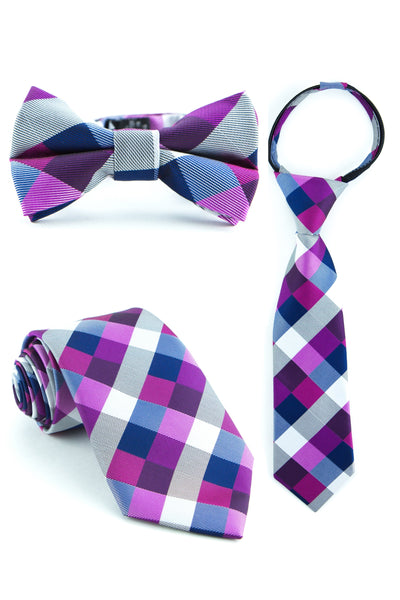Berries and Cream Check Tie