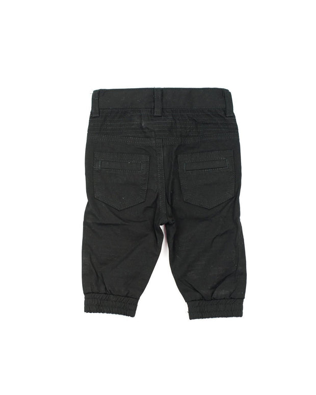 Black Canvas Moto Pants