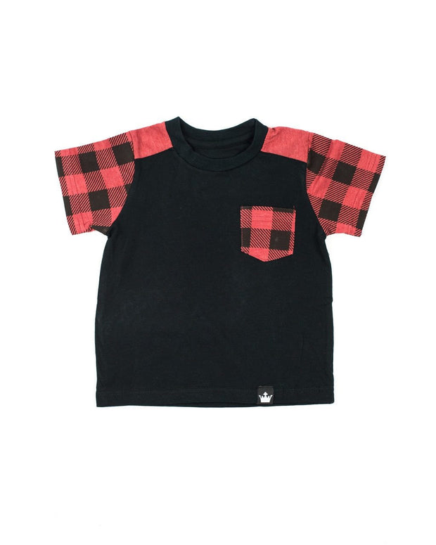 Black & Red Buffalo Pocket Shirt