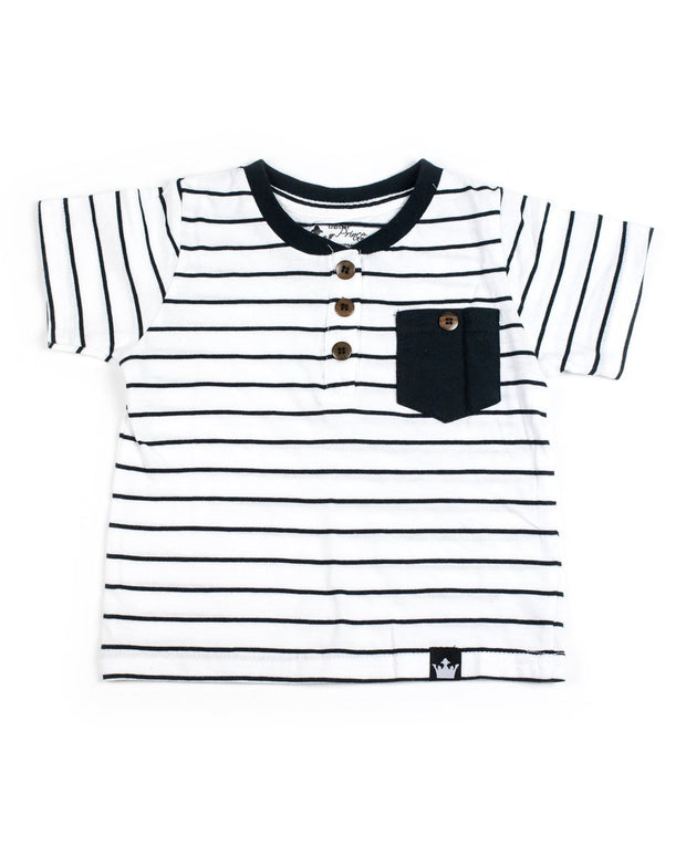 Black & White Stripe Henley