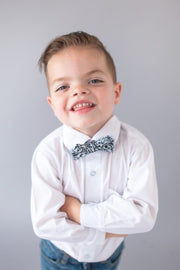Black and White Tribal Bow Tie (Boys and Men)
