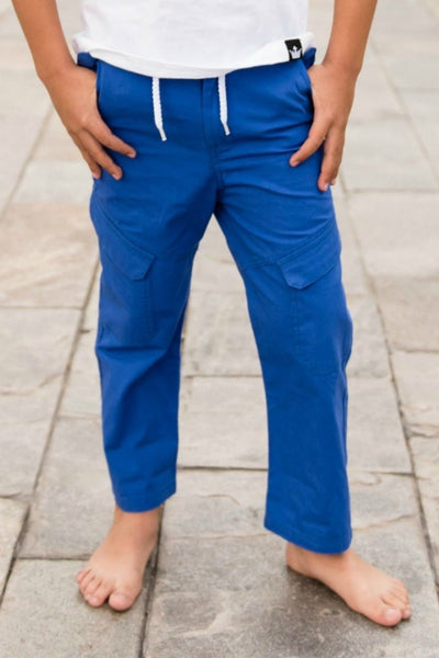 Blue Canvas Tactical Pants