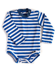 Long Sleeve Blue & White Stripe Bodysuit