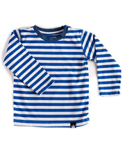 Long Sleeve Blue & White Stripe Tee