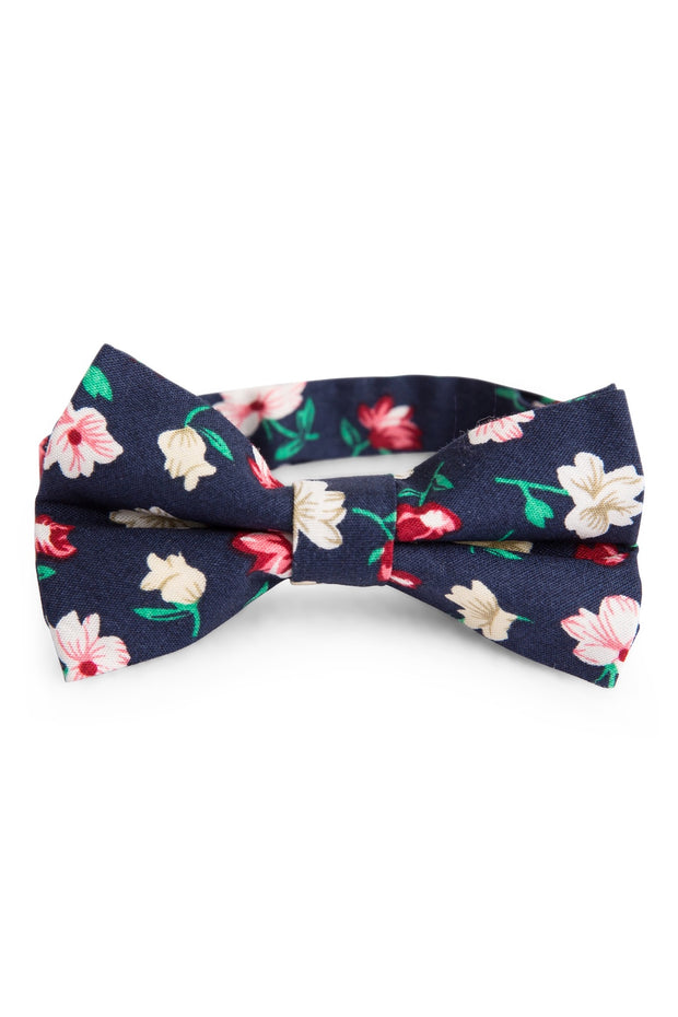 Blush and Navy Floral Tie