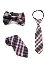 Boysenberry Check Tie