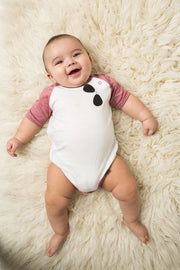 Aviator Muted Red Raglan Bodysuit