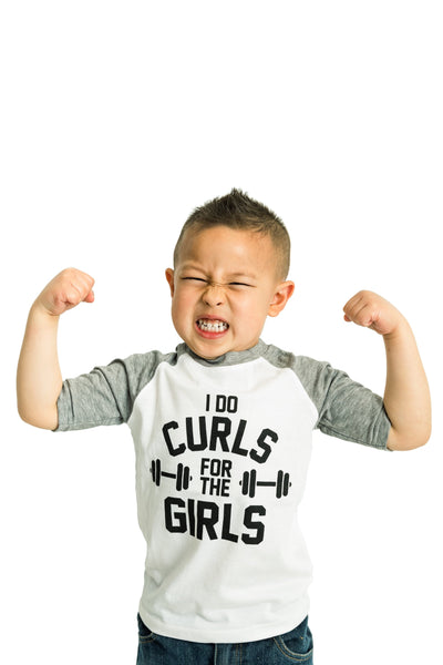 I Do Curls Graphic Raglan