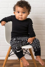 Black Nordic Infant Pajama Romper (Style A)