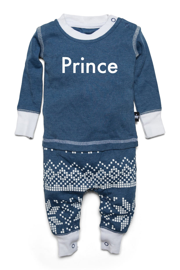 Navy Snowflake Matching Family Pajamas - Personalized Add-On