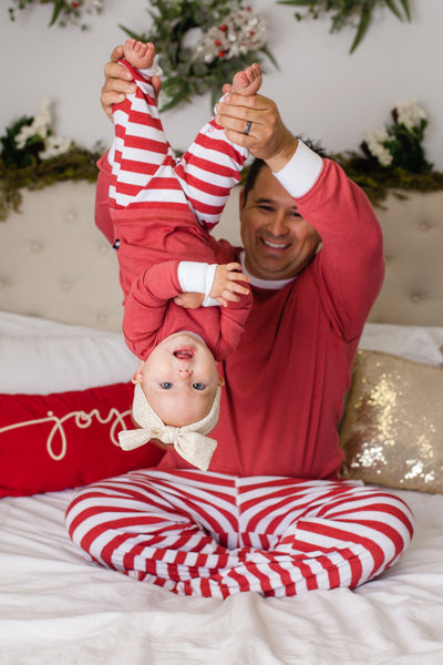 Red & White Stripe Matching Family Pajamas