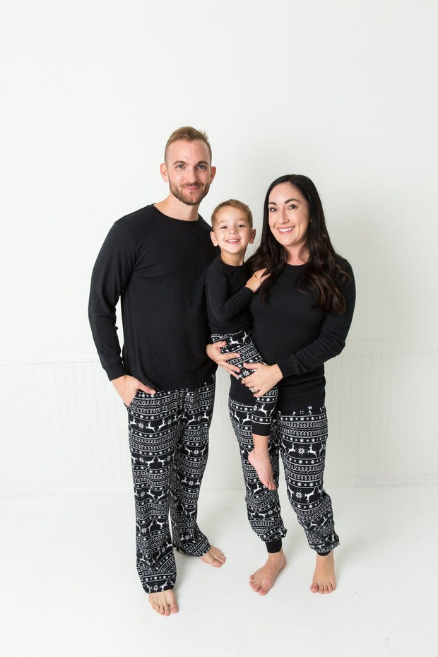Black Nordic Men's Pajama Set (Style A)