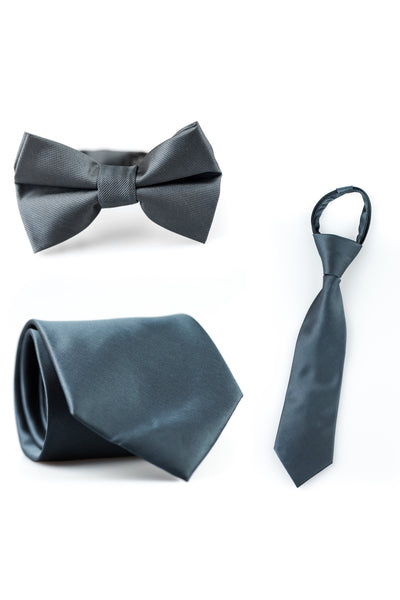 Charcoal Solid Tie