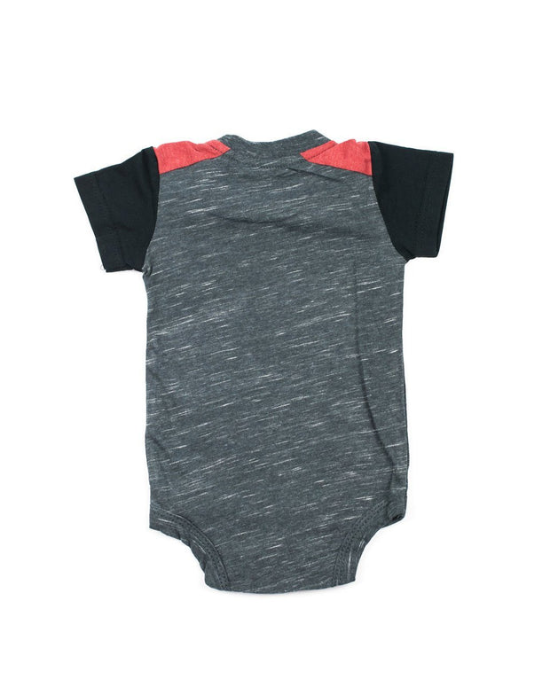 Charcoal and Red Pocket Bodysuit