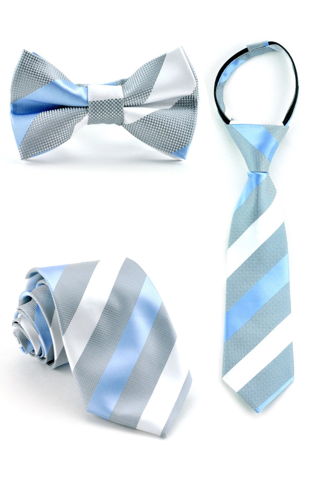 Cloud and Periwinkle Stripe Tie