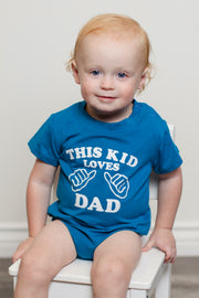 This Kid Loves Dad Graphic Tee