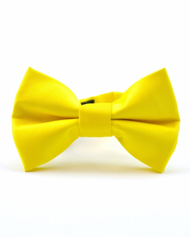 Lemon Solid Bow Tie (Boys and Men)