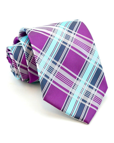 Raspberry Ice Plaid Standard Necktie