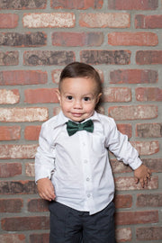 Deep Green Paisley Bow Tie (Boys and Men)