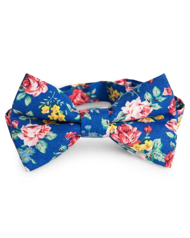 Royal and Rose Floral Bow Tie (Boys and Men)