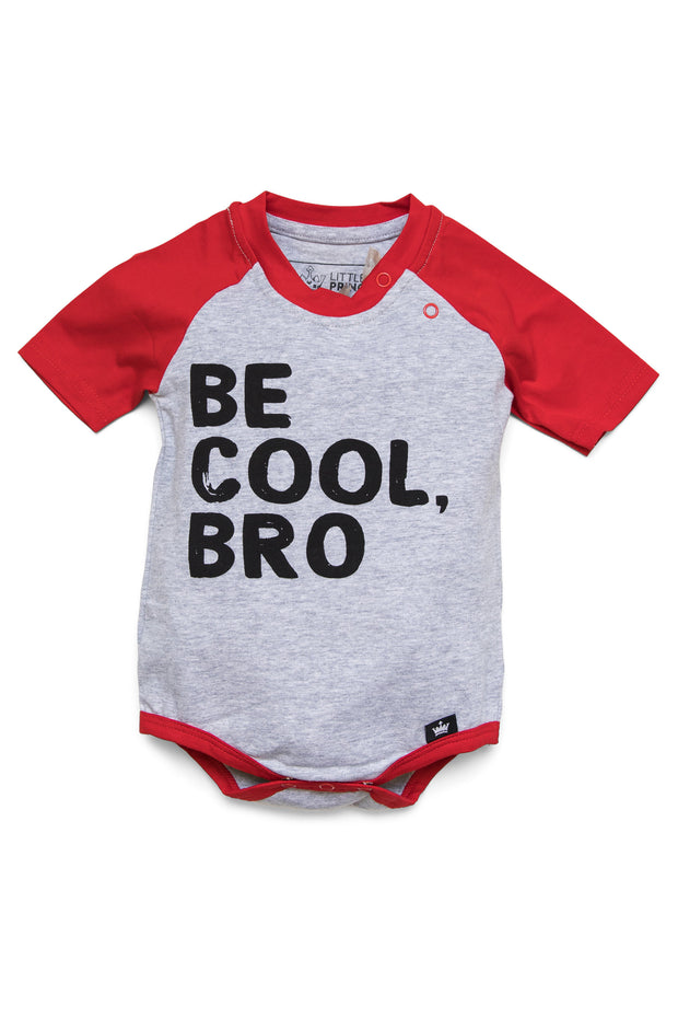 Be Cool Bro Red Graphic Raglan