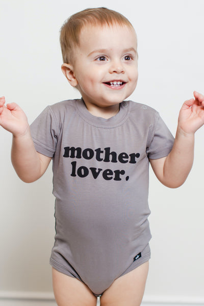 Mother Lover Gray Graphic Tee