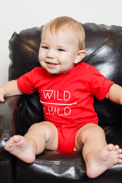 Wild Child Red Graphic Tee
