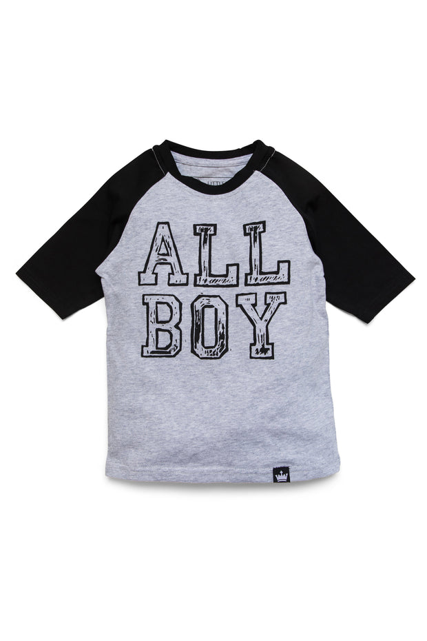 All Boy Black Graphic Raglan