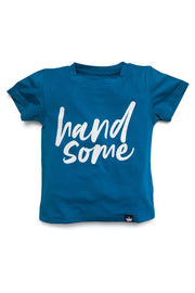 Handsome Navy Graphic Tee
