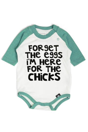 Forget The Eggs Emerald Green Raglan
