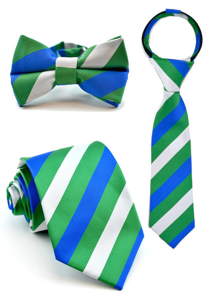 Emerald and Cobalt Stripe Tie