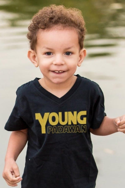 Padawan Black V-Neck Tee