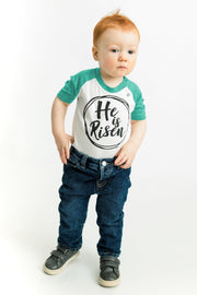 He is Risen Emerald Green Raglan