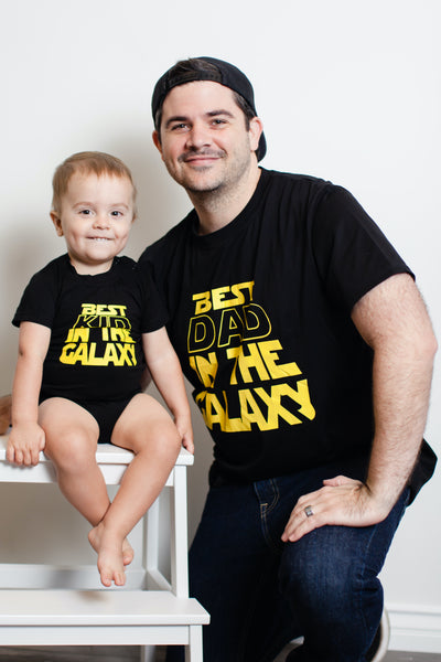 Best Kid/Dad in the Galaxy Matching Tees