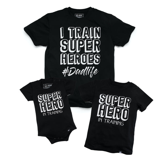 I Train Super Heroes and Super Hero in Training Matching Tees