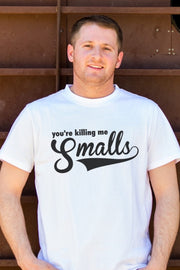 Killing Me Smalls White Crew Dad Tee