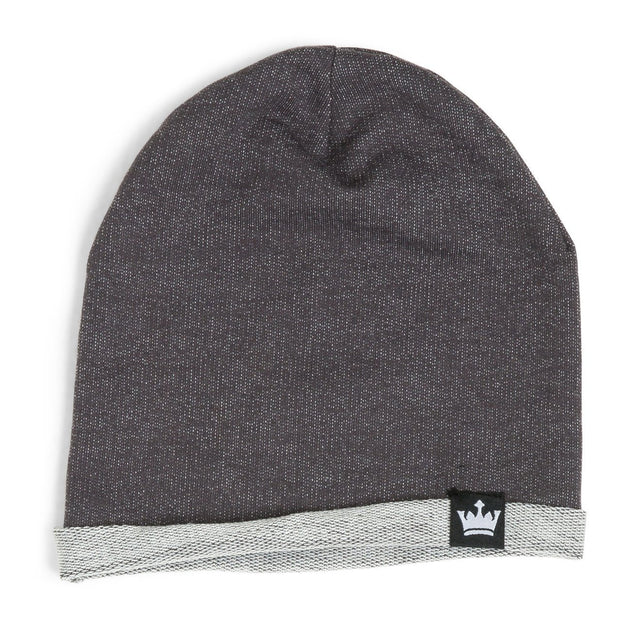 Charcoal Faux Denim French Terry Beanie