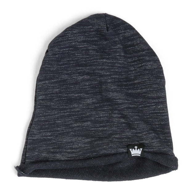 Navy Melange French Terry Beanie