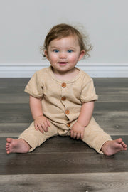 French Terry Button Up Romper