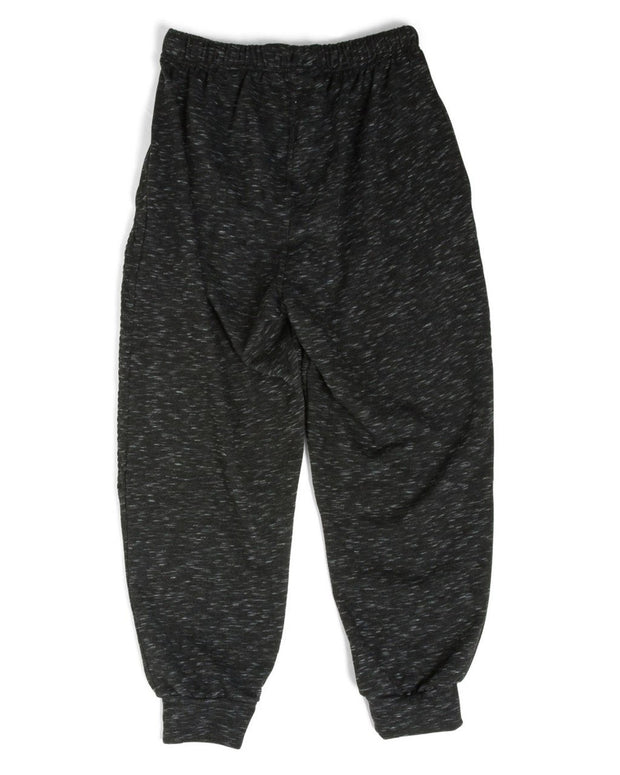 French Terry Men's Moto Sweatpants - Black