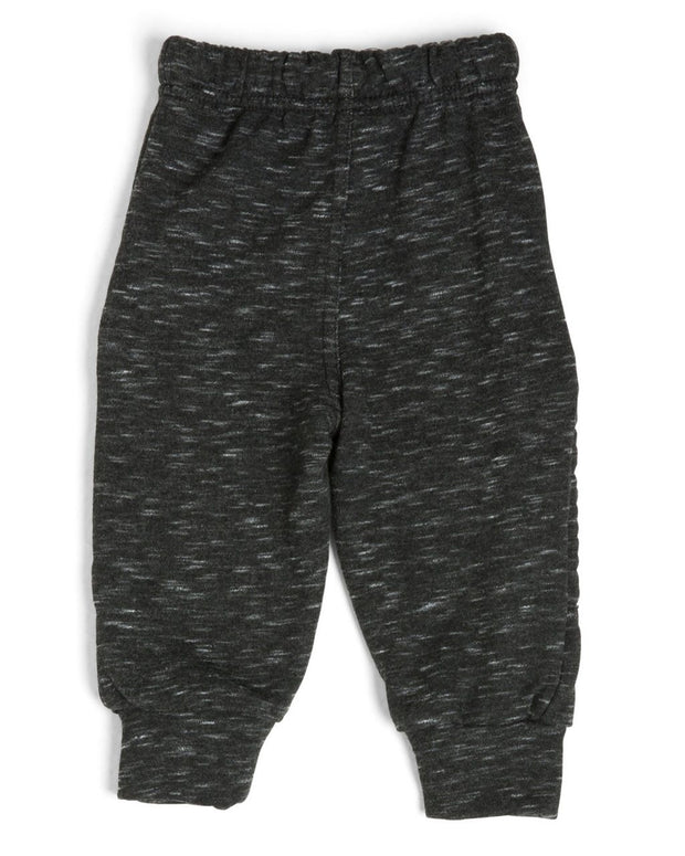 French Terry Kid's Moto Sweatpants - Black