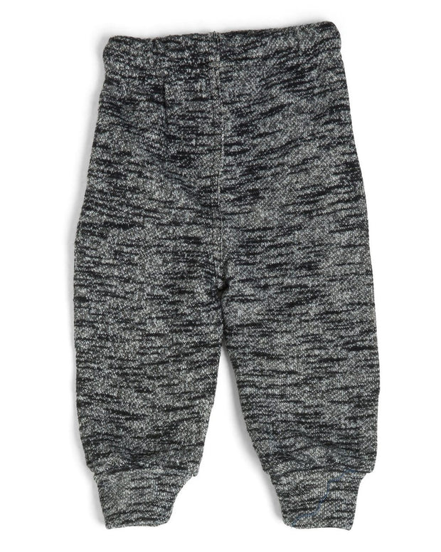 French Terry Kid's Moto Sweatpants - Heather Black