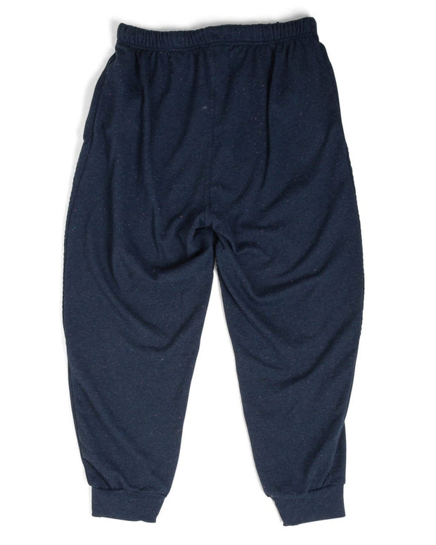 French Terry Men's Moto Sweatpants - Navy