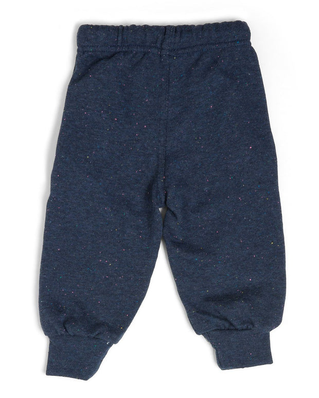 French Terry Kid's Moto Sweatpants - Navy